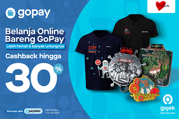 Get 30% Cashback* for payments with GoPay!