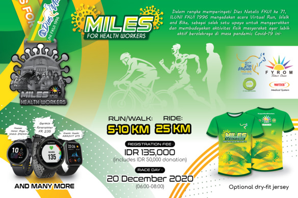 Join Now and Donate! Miles for Health Workers Run, Walk and Ride