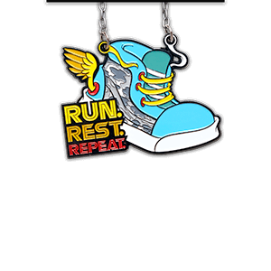 Run. Rest. Repeat. (front)