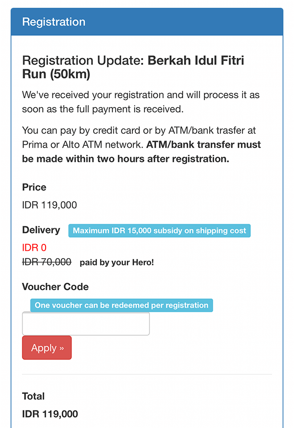Second registration