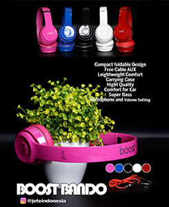 Handsfree Boost. Colours: black, white, red, blue, pink
