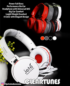 Handsfree ClearTunes Bass. Colours: black, white, red