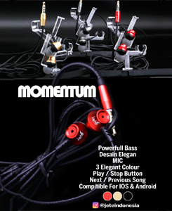 Handsfree Momentum, Colours: black, red, gold
